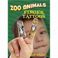 Zoo Animals Finger Tattoos