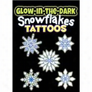 Glow-in-the-Dark Tattoos Snowflakes