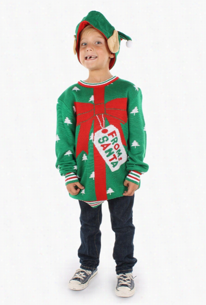 Boy's Christmas Present From Santa Sweater by Tipsy Elves