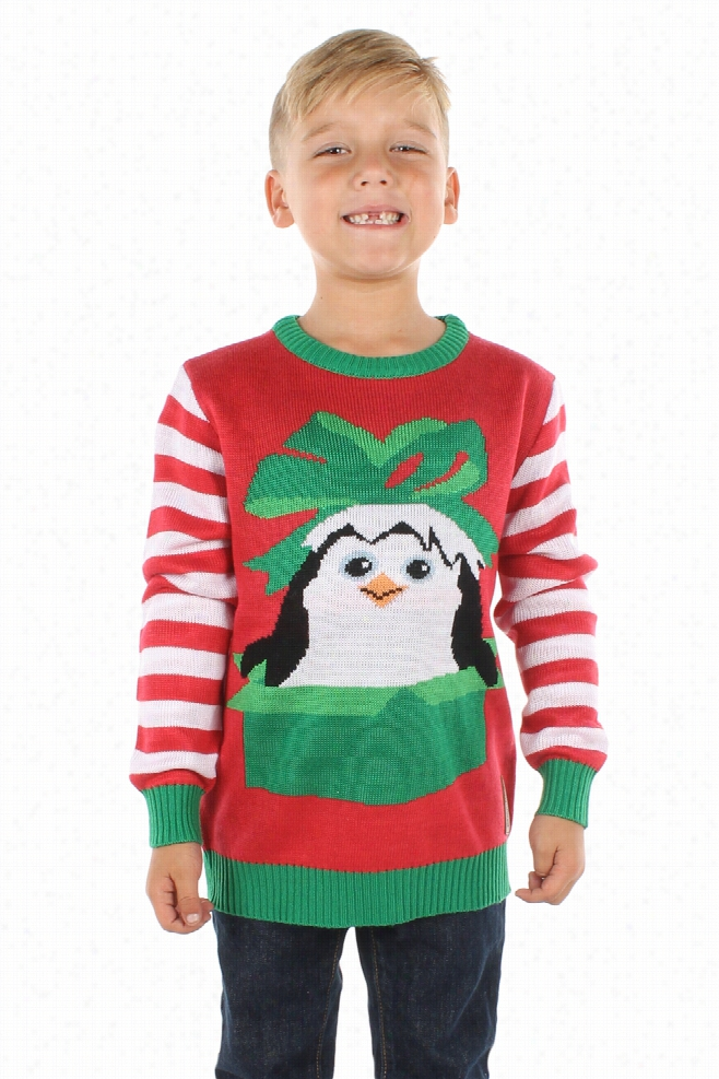 Boy's Dreamworks Penguins Christmas Sweater by Tipsy Elves