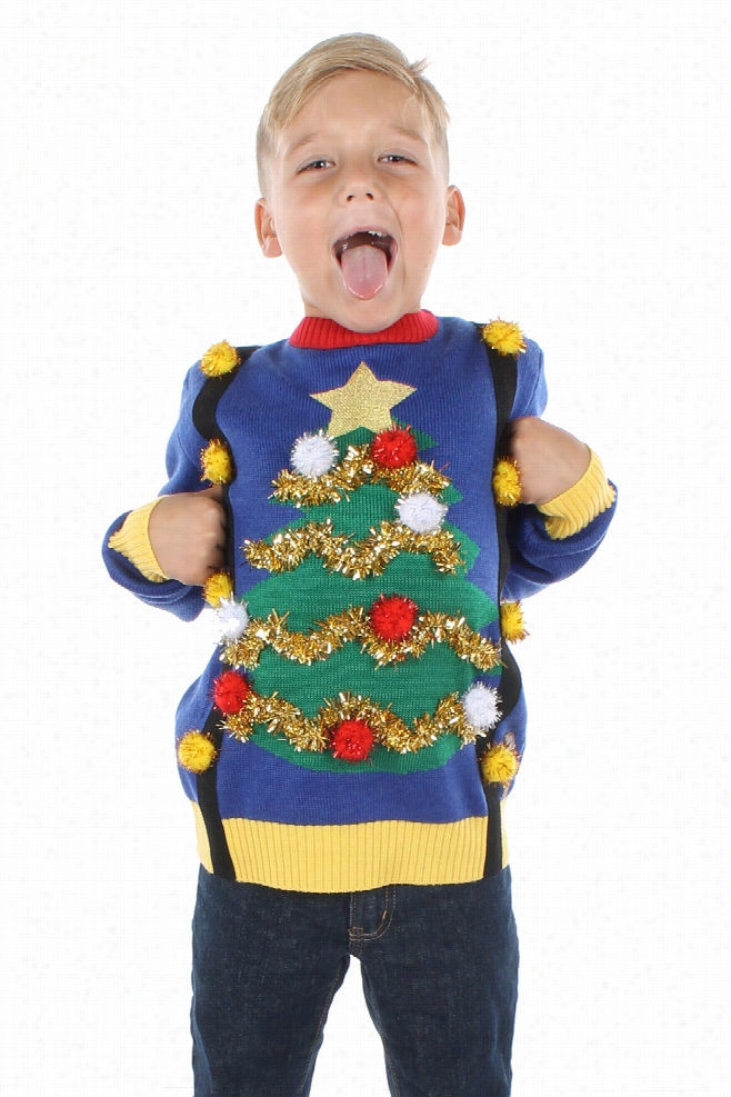 Boy's Suspender Christmas Sweater by Tipsy Elves