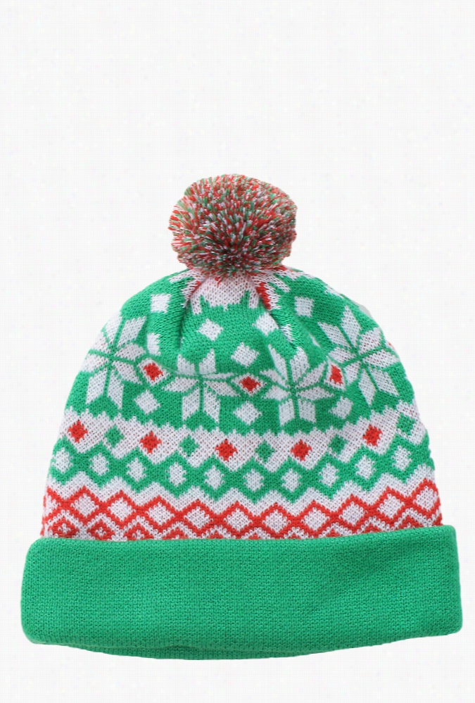 Christmas Beanies - Green Fair Isle Beanie by Tipsy Elves