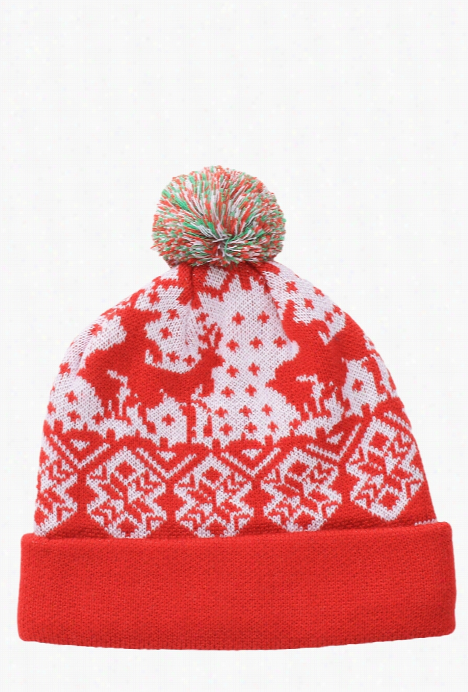 Christmas Beanies - Red Humping Reindeer Beanie by Tipsy Elves