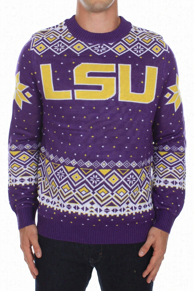 Men's LSU Tigers Sweater by Tipsy Elves