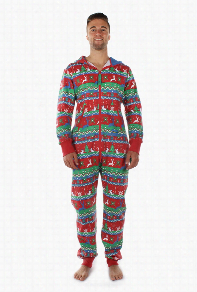 Men's Red Christmas Jumpsuit by Tipsy Elves