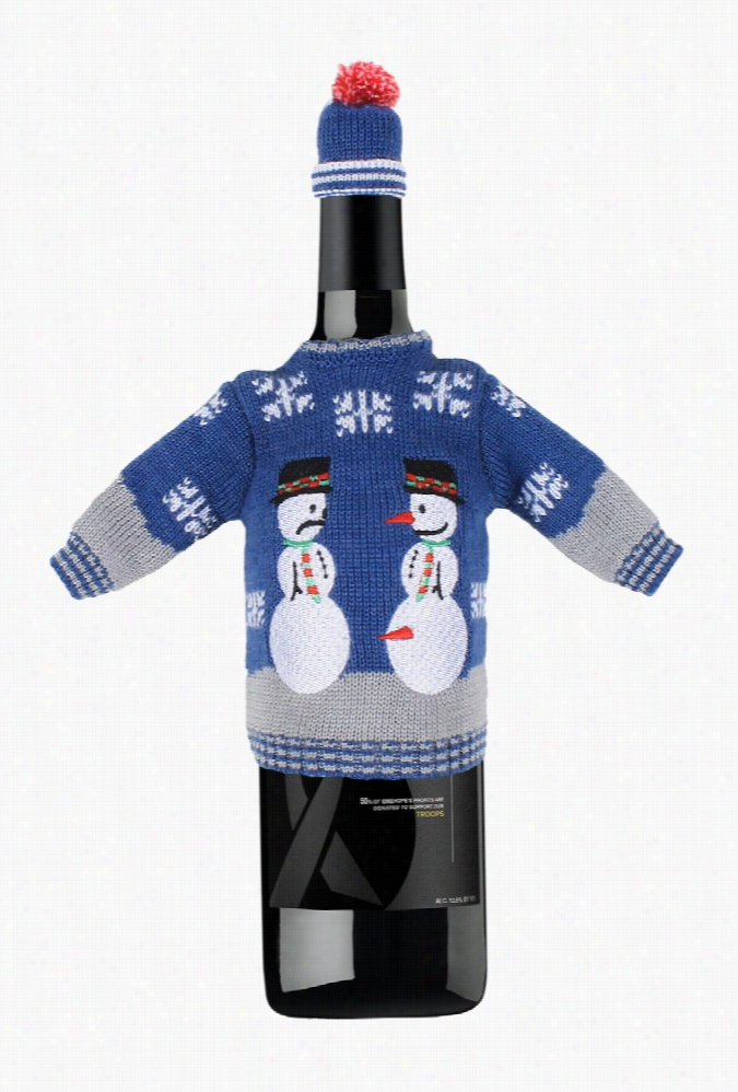 Snowman Nose Thief Wine Sweater by Tipsy Elves