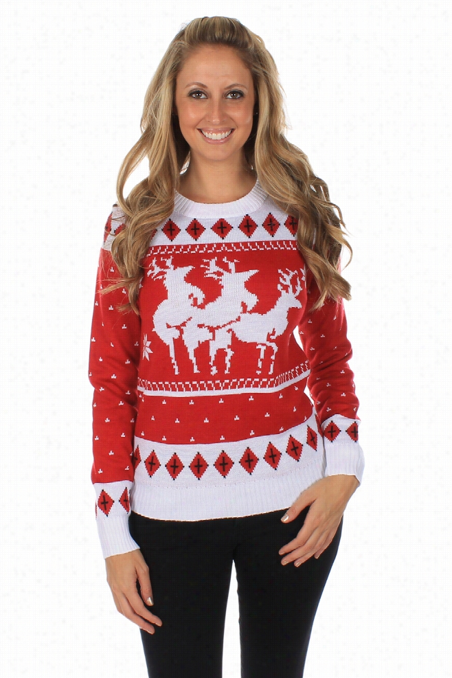 Tacky Christmas Sweaters - Women's Menage A Trois Sweater by Tipsy Elves