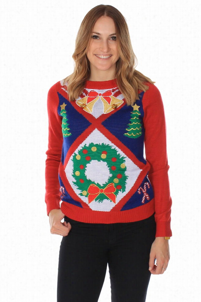 Ugly Christmas Sweaters - Women's Bells Are Ringing Sweater by Tipsy Elves