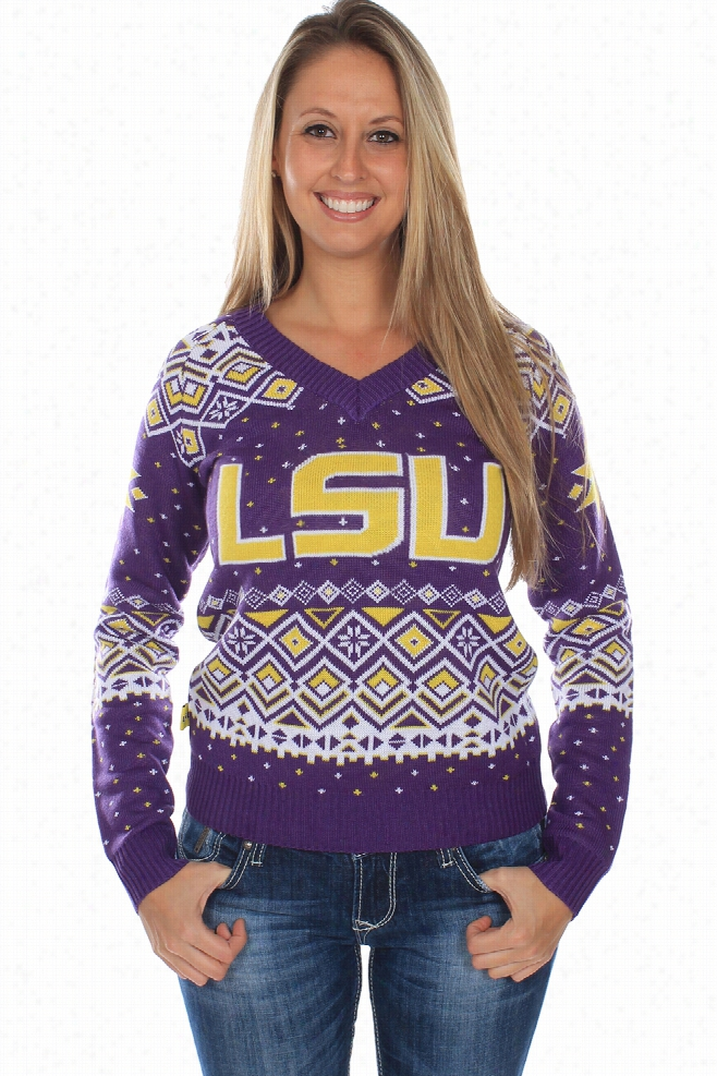 Women's LSU Tigers Sweater by Tipsy Elves