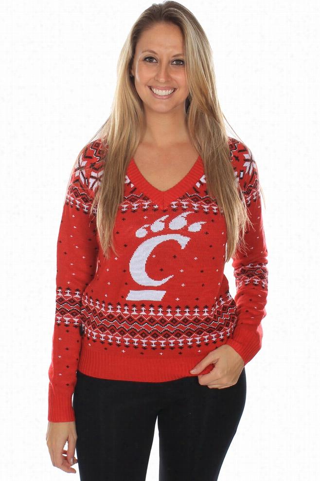 Women's University of Cincinnati Sweater by Tipsy Elves
