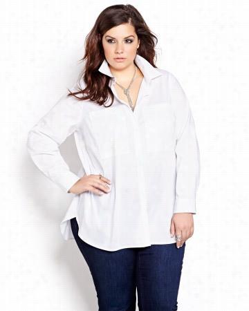 L&L Stretch Cotton Blouse.white.24