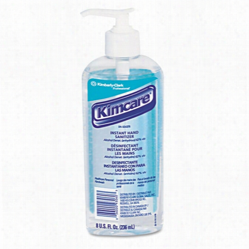 KimCare Citrus Fragrance Liquid Instant Hand Sanitizer 8oz Pump Bottles 12ct Case