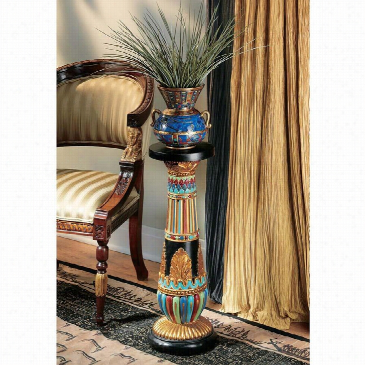 Regal Egyptian Luxor Sculptural Pedestal