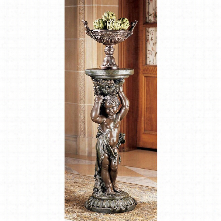 Sous la Vigne Faux Bronze Pedestal