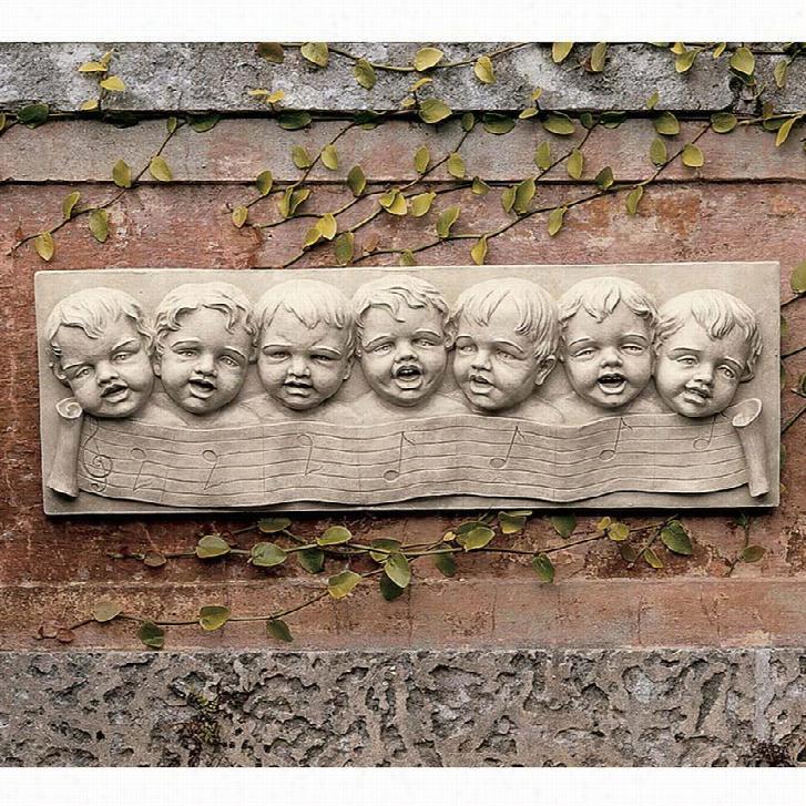 The Seven Musical Cherubs of Florence Wall Sculpture