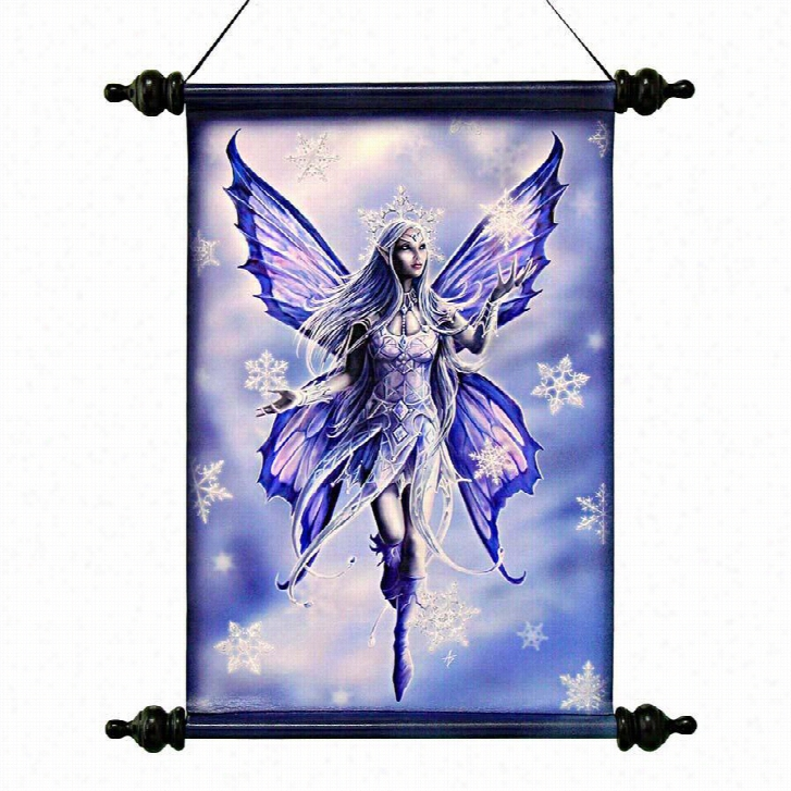 Snow Fairy Canvas Wall Scroll Tapestry by Artist Anne Stokes