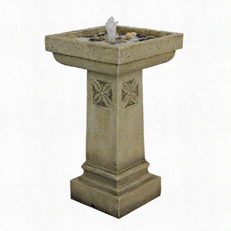 White Chapel Manor Pedestal Garden Fountain
