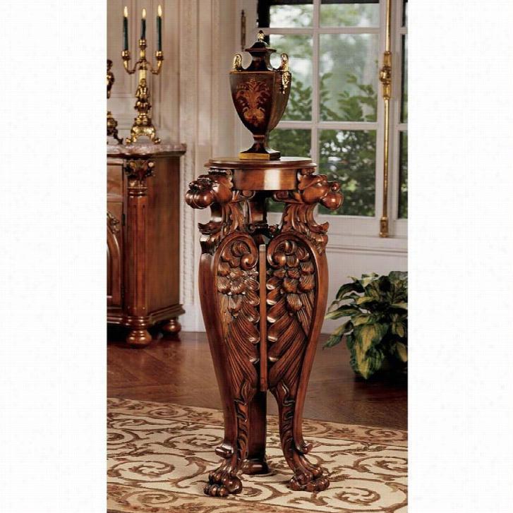 Evenswood Manor Winged Lion Pedestal