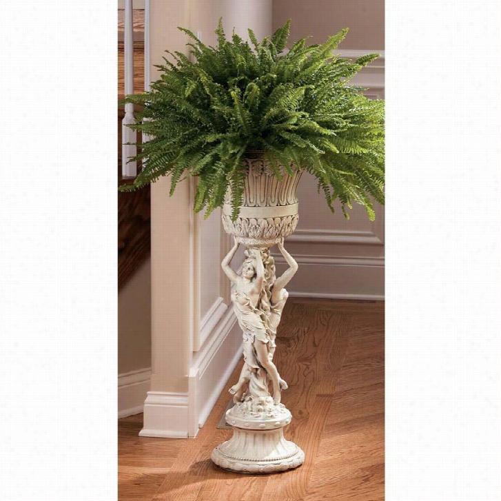 Les Filles Joyeuses Neoclassical Pedestal Urn