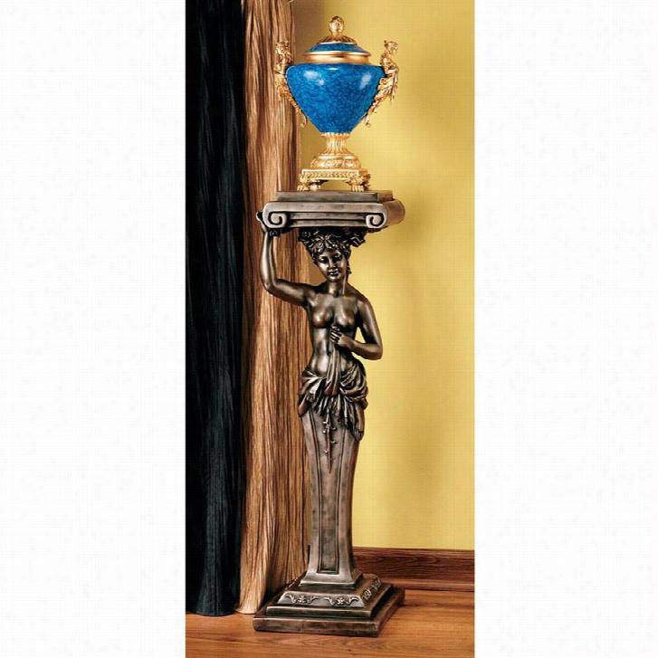 French Provincial Caryatid Pedestal