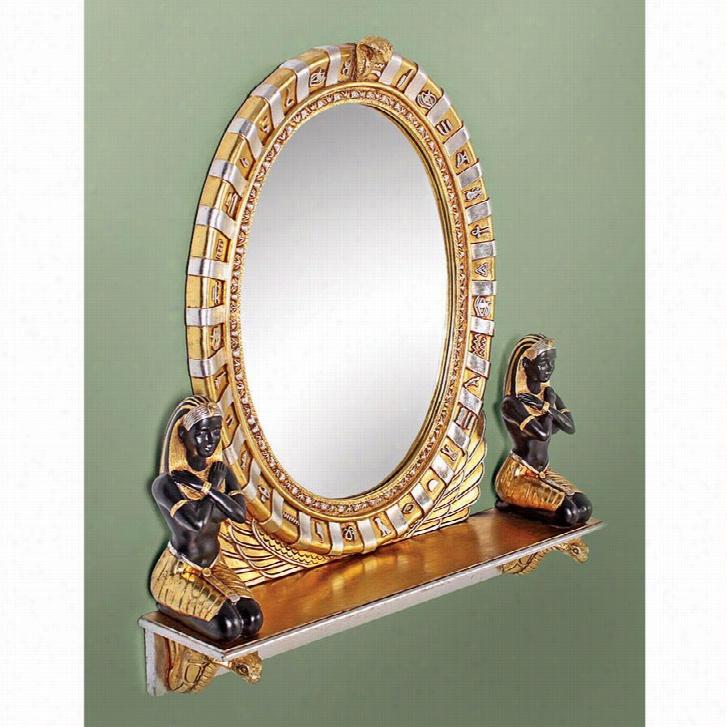 King Amenhotep Egyptian Statue Vanity Mirror