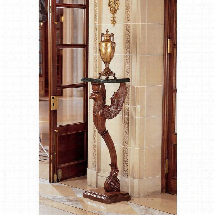 The Griffin of Hanover Pedestal With Marble Top
