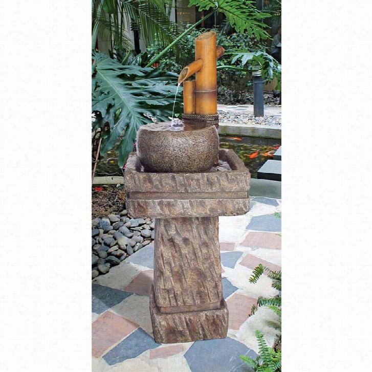 Bamboo Wellspring Pedestal Garden Fountain