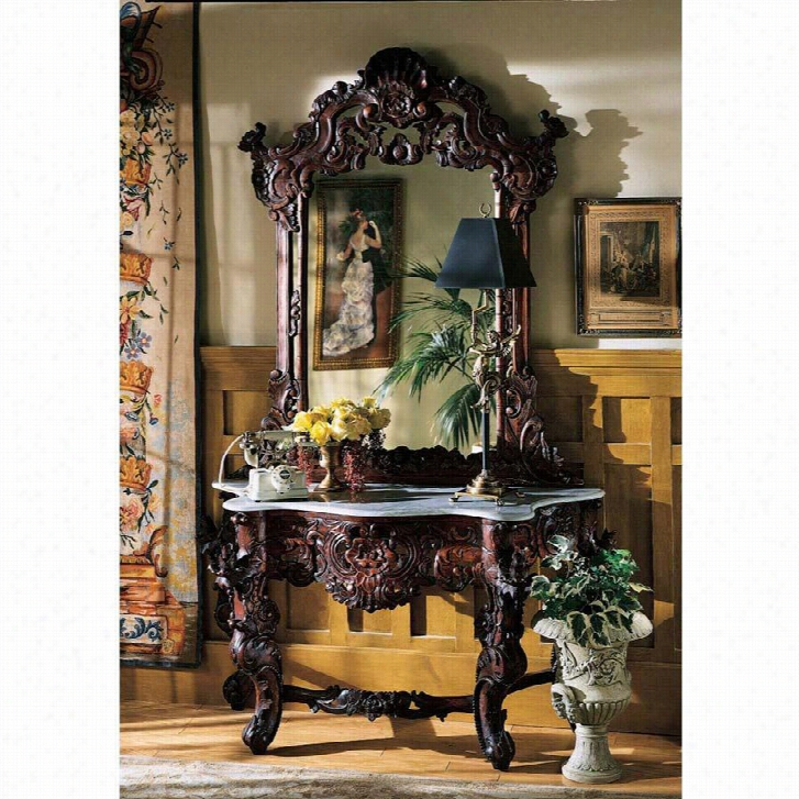 Hapsburg Mirror and Marble Topped Console Table