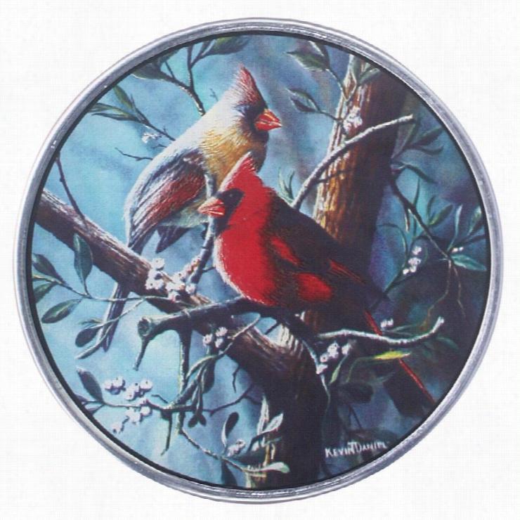 North America Cardinal Birds Art Glass