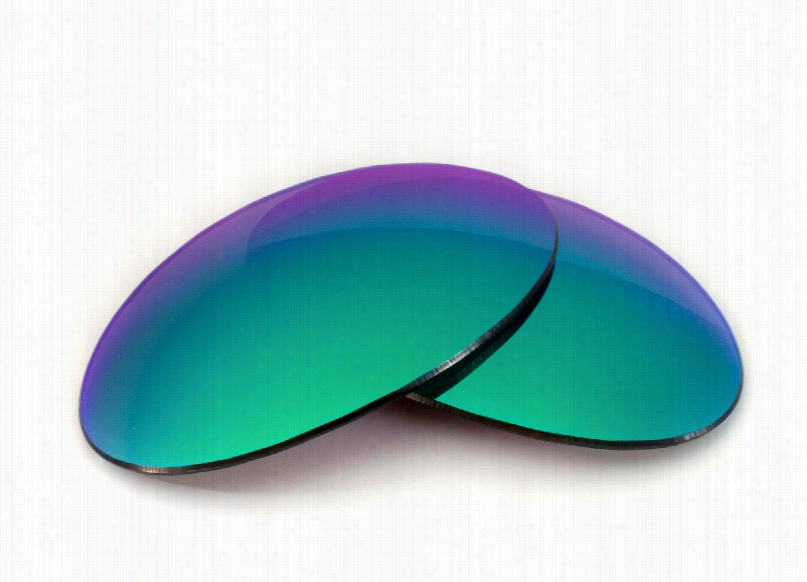 Oakley E Wire Collectors Grey Lens with Green Mirror Replacement Lenses