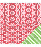 American Crafts Christmas Large Snowflakes Double-Sided Cardstock