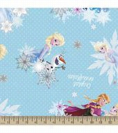 Disney® Frozen Print Fabric-Crystal Snowflakes Eco Canvas