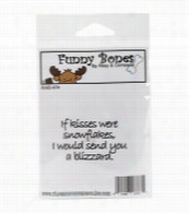 Riley and Company Funny Bones Cling Stamp-If Kisses Were Snowflakes