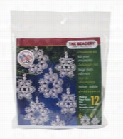 The Beadery Holiday Beaded Ornament Kit-Crystal and Pearl Snowflakes