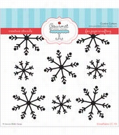 Gourmet Rubber Stamps Snowflakes Stencil