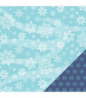 American Crafts Winter Large Snowflakes Double-Sided Cardstock