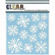 Clear Scraps Stencils Nordic Snowflakes