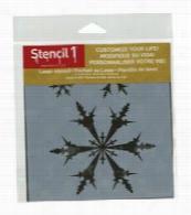 Stencil 1 Snowflakes Stencil 5.75x6