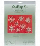 Lake City Craft Quilling Kit-8PK/Snowflakes