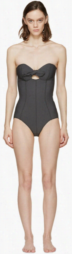 Lisa Marie Fernandez Black Poppy One-piece Swimsuit