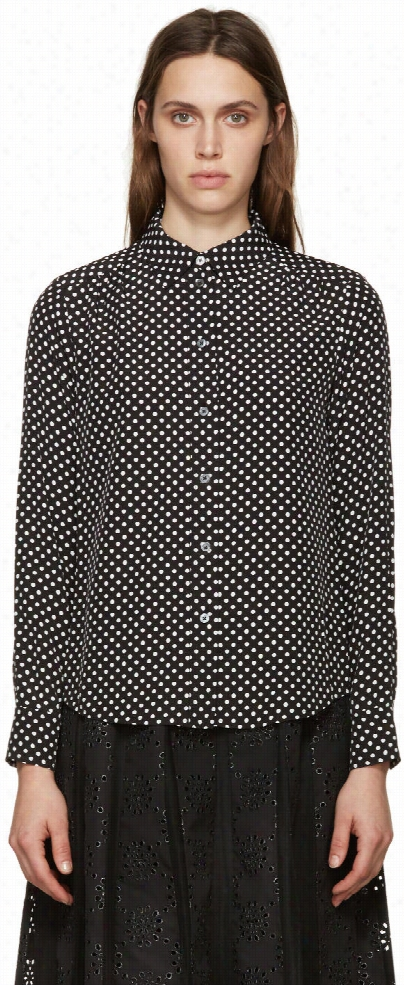 Marc By Marc Jacobs Black Polka Dot Blouse
