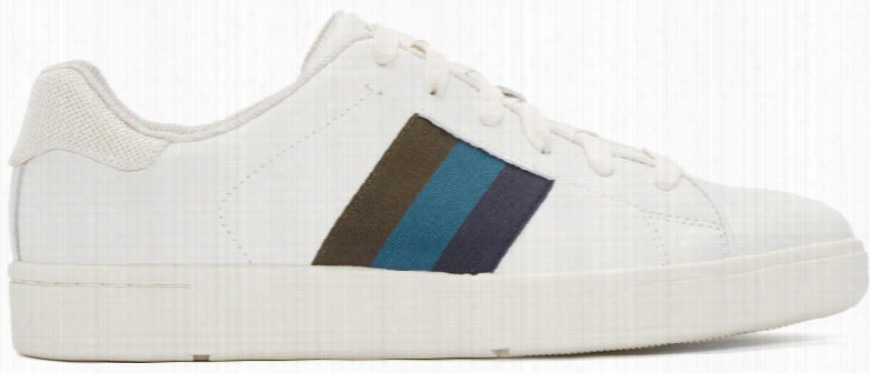 Paul Smith Jeans White Leather Lawn Low-top Sneakers