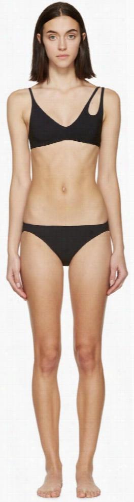 Araks Black Elias Bikini Top and Enil Bikini Bottom