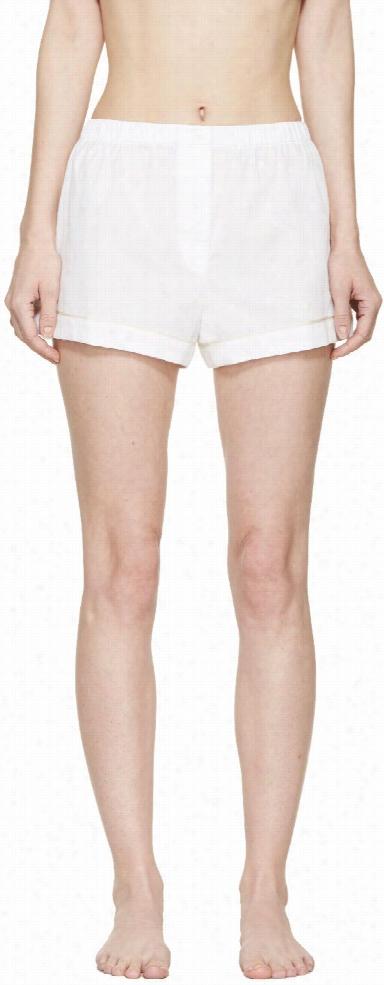Araks White Jacquard Pyjama Tia Shorts