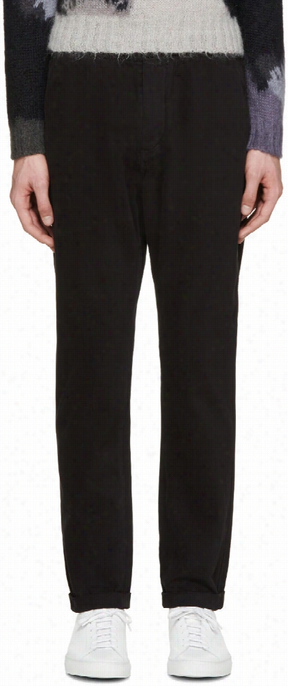 Paul Smith Jeans Black Twill Standard-fit Chinos