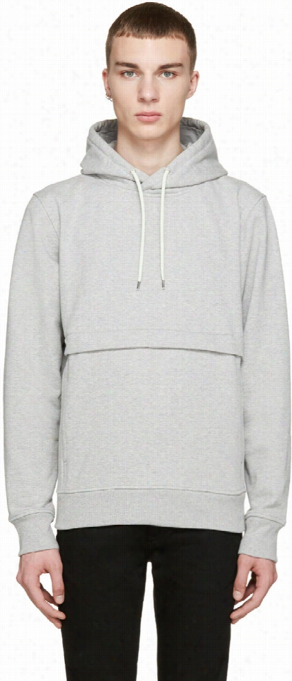 Paul Smith Jeans Grey Pocket Hoodie