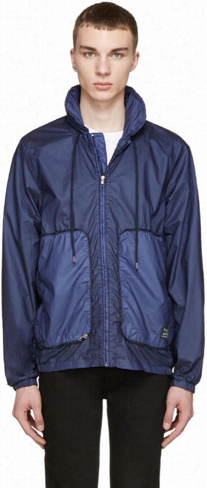 Paul Smith Jeans Navy Stowaway Hooded Jacket