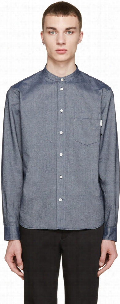 Paul Smith Jeans Navy Tailored Denim Shirt