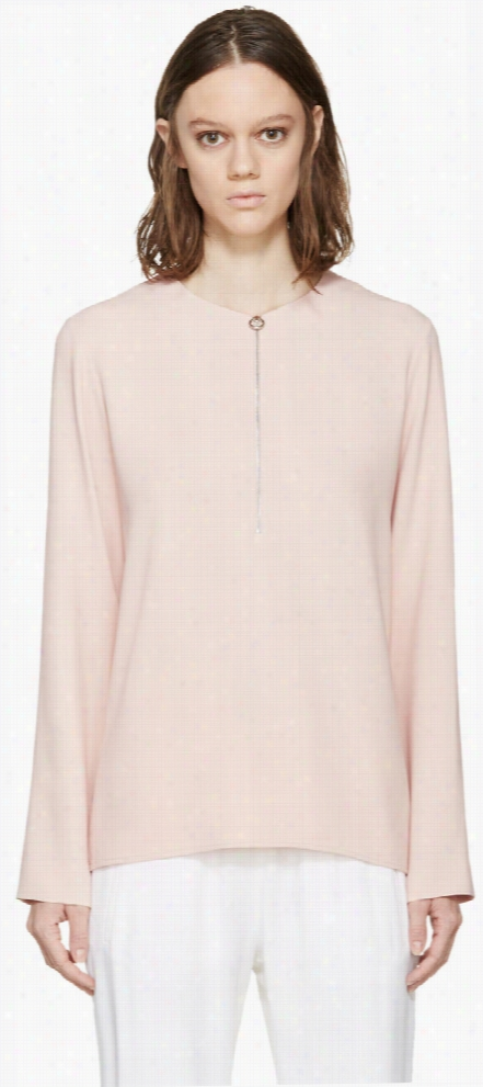 Stella Mccartney Pink Zippered Arlesa Blouse