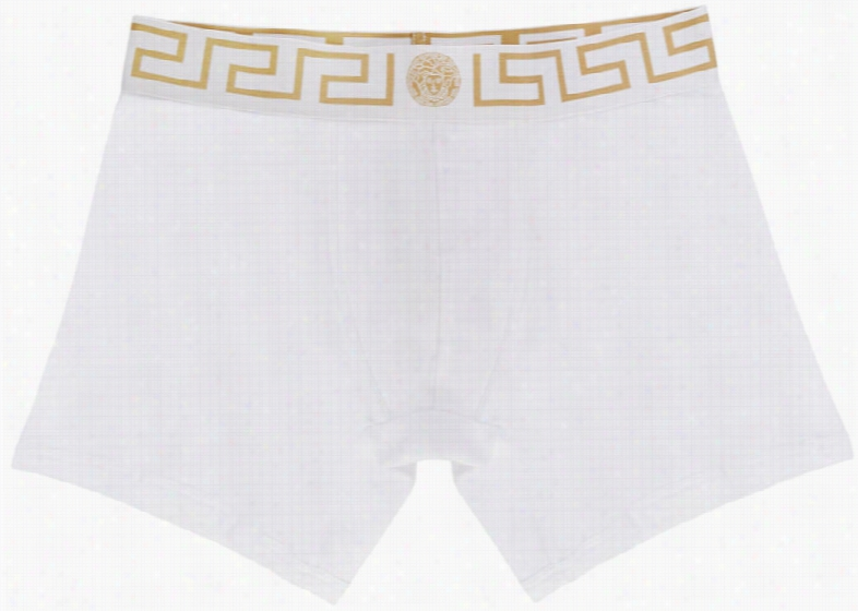 Versace Underwear White Medusa Boxer Briefs